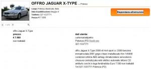 Annuncio Jaguar