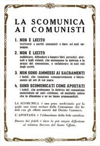 """La """"scomunica"""" dei comunisti"""