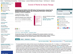 AAMFT Journal on affirmative theraphy