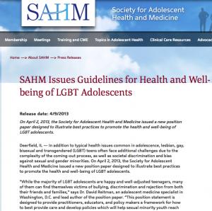 SAHM guidelines