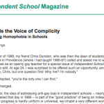 NAIS 1999 silence vs bullying