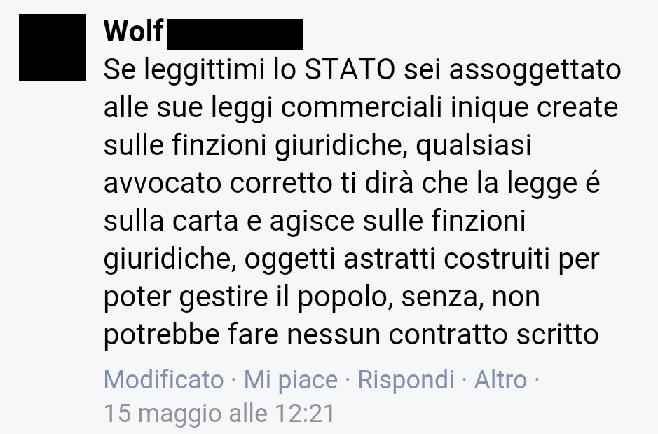 Wolf legittimimazione