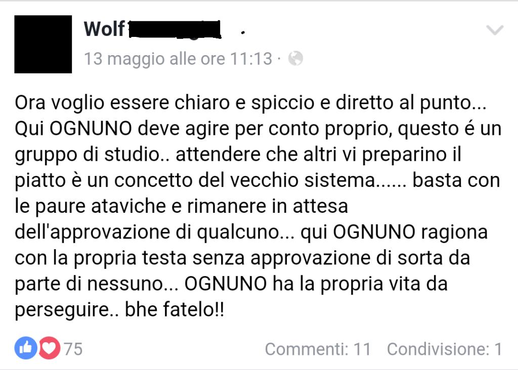 Wolf scaricabarile
