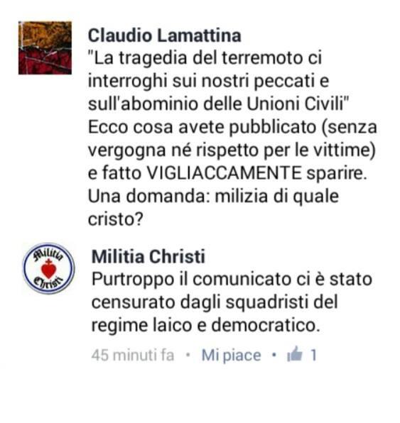 Milizia Christi terremoto3
